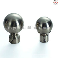 M05 Nickel curtain pole ball curtain rod head